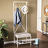 This item: Entryway Distressed White with Gray Bench