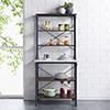 This item: Pender Rustic Gray Bakers Rack