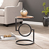 This item: Vera Black and Natural Mango Accent Table