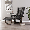 This item: Michaelson Charcoal and Smoked Tobacco Chair
