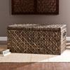 This item: Water Hyacinth Blackwashed Storage Trunk