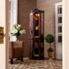 This item: Mahogany Lighted Corner Curio Cabinet