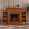 This item: Tennyson Pine Electric Fireplace with Bookcases