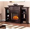 This item: Tennyson Espresso Electric Fireplace with Bookcases