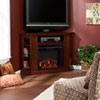 This item: Claremont Cherry Convertible Media Electric Fireplace
