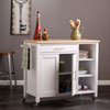 This item: Martinville White Kitchen Cart