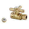 This item: Accents Polished Brass Straight Stop with 1/2-Inch Sweat x 3/8-Inch OD Compression