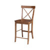 This item: Distressed Oak X-Back Counter Stool