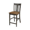 This item: San Remo Hickory and Washed Coal Counterheight Stool