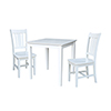 This item: Solid Wood Dining Table with Two San Remo Chairs in White - Set of Three