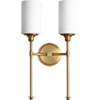This item: Seneca Aged Brass Two-Light Wall Sconce