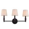 This item: Bradford Bronze Three-Light Vanity Strip with Ivory Fabric Shade