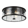 This item: Derry Espresso Three-Light Flush Mount