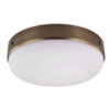 This item: Sussex Brass Three-Light Indoor Flush Mount with White Opal Etched Glass