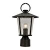 This item: Alba Matte Black One-Light Outdoor Post Mount