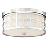This item: Alford Polished Nickel 13.5-Inch Two-Light Flush Mount