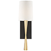 This item: Hadley Antique Brass and Black One-Light Wall Sconce