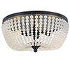 This item: Hampstead Matte Black Four-Light Flush Mount