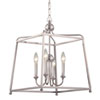 This item: London Polished Nickel 16-Inch Four-Light Chandelier