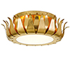 This item: Rosemary Antique Gold Three-Light Flush Mount