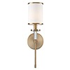 This item: Stafford Aged Brass One-Light Wall Sconce