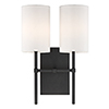 This item: Vincent Black Two-Light Wall Sconce
