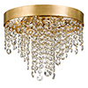 This item: Wharf Antique Gold Four-Light Flush Mount