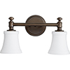 This item: Atherton Oiled Bronze and Satin Opal Two-Light Bath Vanity