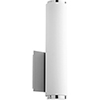This item: Avante Polished Nickel and Matte White Acrylic LED Wall Sconce