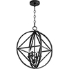 This item: Drake Black 18-Inch Four-Light Pendant