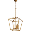 This item: Windsor Gold Leaf 17-Inch Six-Light Pendant
