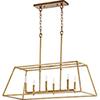 This item: Windsor Gold Leaf 15-Inch Six-Light Pendant
