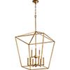 This item: Windsor Gold Leaf Nine-Light Pendant