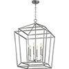 This item: Woodrow Brushed Nickel 21-Inch Six-Light Pendant
