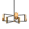 This item: Cleo Black and Brass Five-Light Chandelier