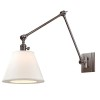 This item: Rae Historic Nickel One-Light Swing Arm Wall Sconce with White Shade