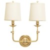 This item: Lynn Aged Brass Two-Light Wall Sconce