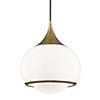 This item: Jordan Aged Brass 14-Inch One-Light Pendant