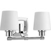 This item: P300017-015: Glance Polished Chrome Two-Light Bath Sconce
