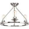 This item: P350036-009: Debut Brushed Nickel Three-Light Semi Flush Mount