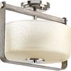 This item: P350041-009: Aspen Creek Brushed Nickel Two-Light Semi Flush Mount