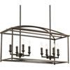 This item: P400033-020: Piedmont Antique Bronze Eight-Light Chandelier