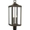 This item: P540004-020: Gibbes Street Antique Bronze Three-Light Outdoor Post Mount