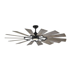 Item Prairie Aged Pewter 62-Inch LED Ceiling Fan