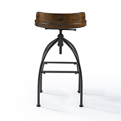 Home Craft D/écor HCD-SS066F Fire Adjustable Stool