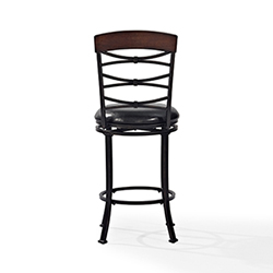 Item Highland Swivel Counter Stool in Black Gold With Black Cushion