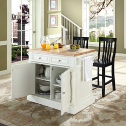 Constructed Of Solid Hardwood And Wood Veneers, This Kitchen Island Is  Designed For Longevity. The Handsome Raised Panel Doors And Drawer Fronts  Provide The ...
