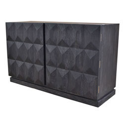 Two Door Large Credenza Media Center Brass Hinges Product Dimensions: 21 X  60 X 36 In. Material: 100% Mango Wood Two Fixed Shelves Inside, Interior  Shelf ...