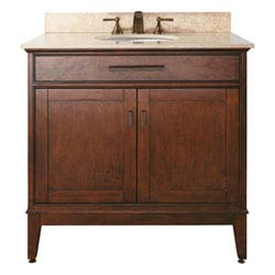 Item Madison 36-Inch Vanity Only in Tobacco Finish
