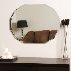 Decor Wonderland Diamond Shaped Frameless Wall Mirror